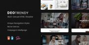 DeoTrendy | Multi-concept Creative HTML5 Template (Site Templates)