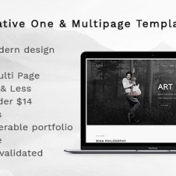 Bina – Creative OnePage & MultiPage Template (Creative)